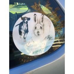 Klistermärke Hare Stövare 20 cm